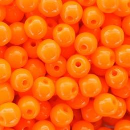Tsekkiläinen pyöreä lasihelmi 4 mm, opaakki kirkas oranssi
