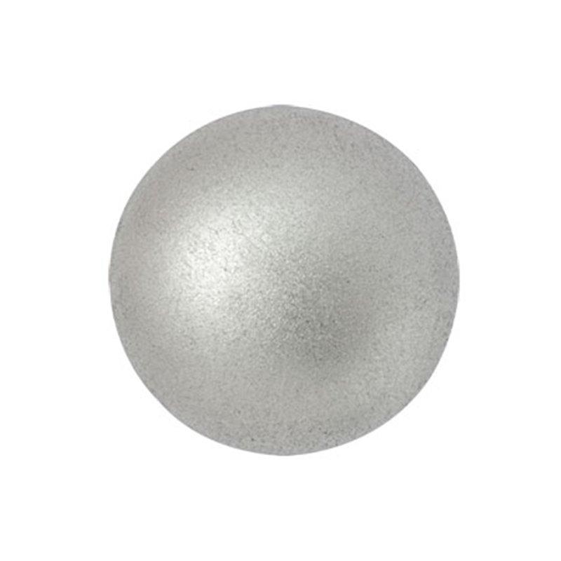 Cabochons par Puca® lasikapussi 18 mm, matta alumiini hopea