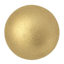 Cabochons par Puca® lasikapussi 25 mm, matta vaalea kulta