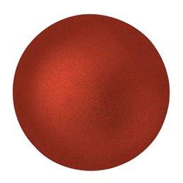Cabochons par Puca® lasikapussi 25 mm, metallinen matta punainen