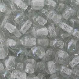 Tsekkiläinen pyöreä lasihelmi 4 mm, kirkas kiiltävä vaaleanvihreä