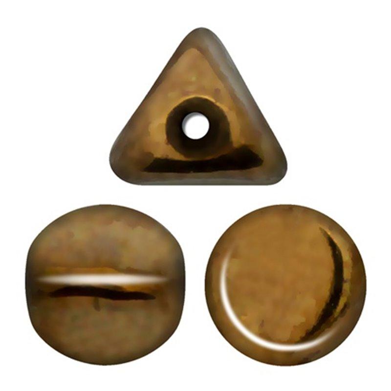 Ilos® par Puca® lasihelmi 5  x 5 mm, opaakki tumma kultainen pronssi
