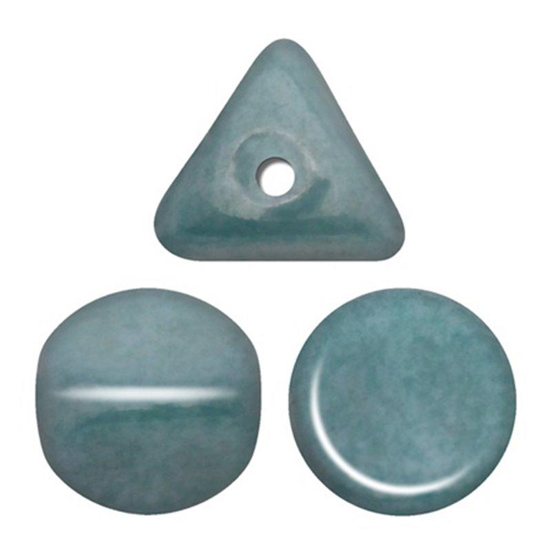 Ilos® par Puca® lasihelmi 5  x 5 mm, opaakki keraaminen sininen