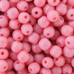 Tsekkiläinen pyöreä lasihelmi 4 mm, opaakki koralli pinkki
