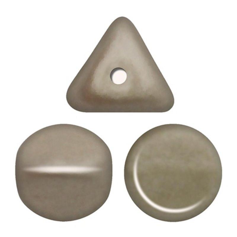 Ilos® par Puca® lasihelmi 5  x 5 mm, metallinen matta beige