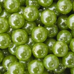 Tsekkiläinen pyöreä helmiäislasihelmi 6 mm, oliivi