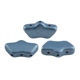 Delos® par Puca® lasihelmi 6 x 11 mm, metallinen matta sininen