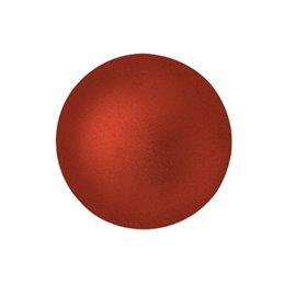 Cabochons par Puca® lasikapussi 18 mm, metallinen matta punainen
