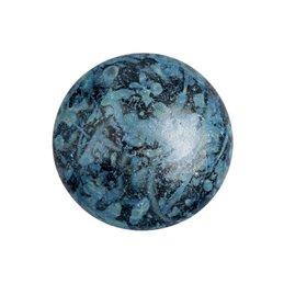 Cabochons par Puca® lasikapussi 18 mm, metallinen matta laikukas sininen