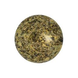 Cabochons par Puca® lasikapussi 18 mm, metallinen matta laikukas vanha kulta