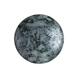 Cabochons par Puca® lasikapussi 18 mm, metallinen matta laikukas vanha hopea