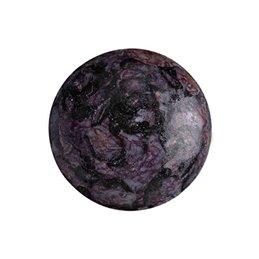 Cabochons par Puca® lasikapussi 18 mm, metallinen matta laikukas violetti