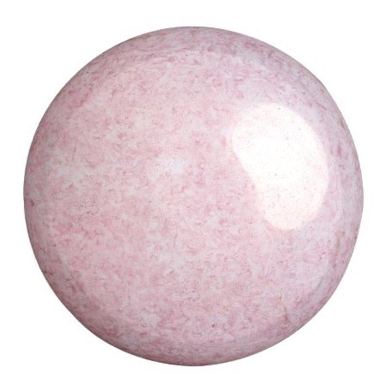 Cabochons par Puca® lasikapussi 25 mm, opaakki keraaminen vaalea roosa