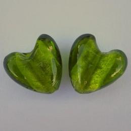 Lamppuhelmi, vihreä hopeafoliosydän 22 mm