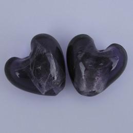 Lamppuhelmi, violetti hopeafoliosydän 22 mm