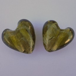 Lamppuhelmi, oliivi hopeafoliosydän 22 mm