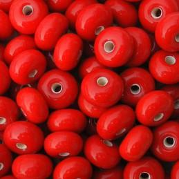 Lamppuhelmi rondelli 11 x 7 mm, punainen