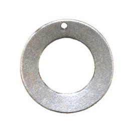 Trinity Brass taottu rengas 25 mm, antiikkihopeoitu (takapuoli)