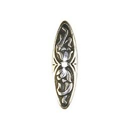 Trinity Brass salpalukon liljasalpa 7,5 x 26 mm, antiikkihopeoitu (etupuoli)