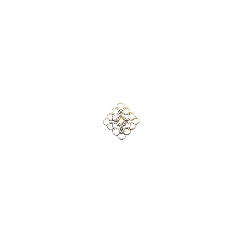 Trinity Brass Diana linkki 20 x 20 mm, antiikkihopeoitu