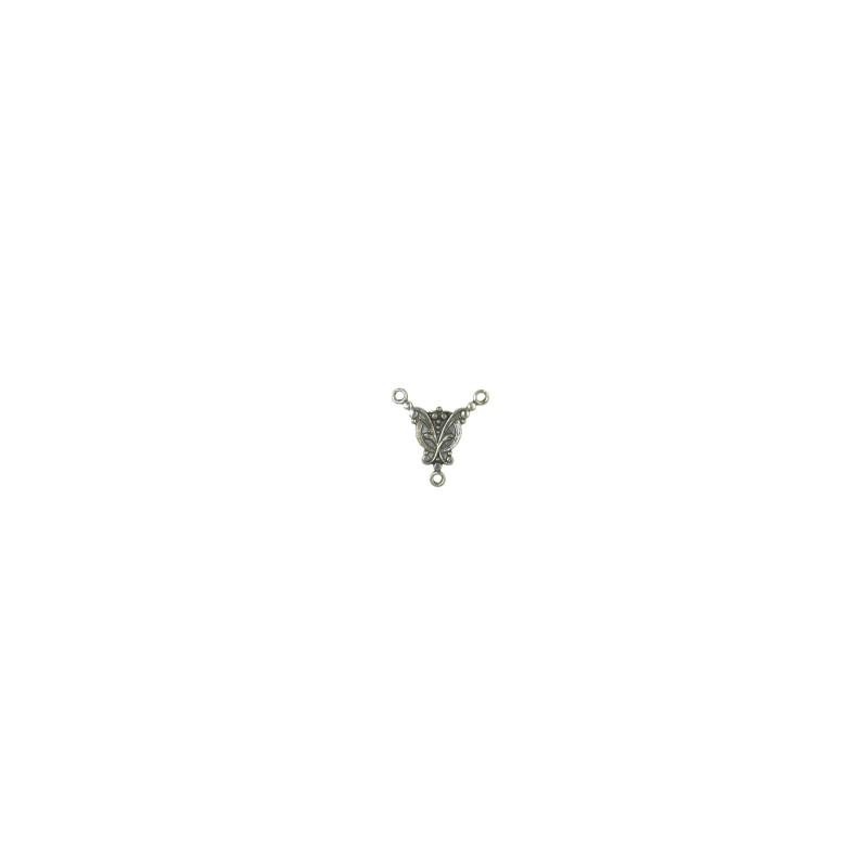 Trinity Brass Junia Y-linkki 17 x 17 mm, antiikkihopeoitu