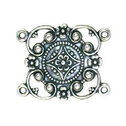 Trinity Brass Kanah linkki 30 x 24 mm, antiikkihopeoitu (etupuoli)
