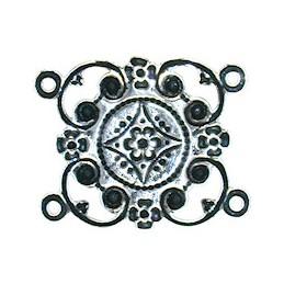 Trinity Brass Kanah linkki 30 x 24 mm, antiikkihopeoitu (takapuoli)