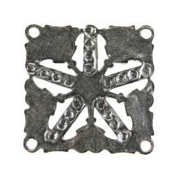 Trinity Brass etruski linkki 32 x 32 mm, antiikkihopeoitu (takapuoli)