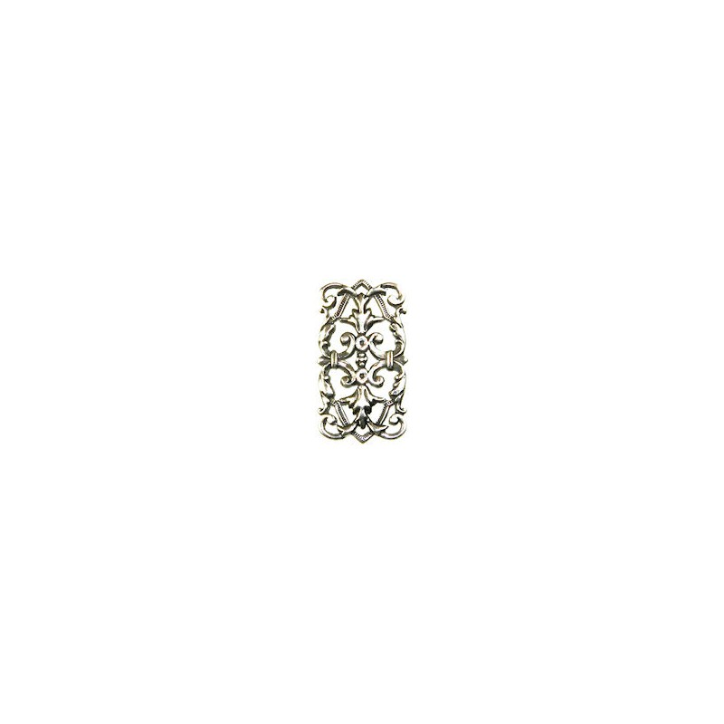 Trinity Brass Leah linkki 14,5 x 26 mm, antiikkihopeoitu (etupuoli)