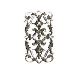Trinity Brass Leah linkki 14,5 x 26 mm, antiikkihopeoitu (takapuoli)