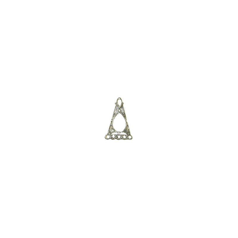 Trinity Brass senorita filigree linkki 10,5 x 16 mm, antiikkihopeoitu (etupuoli)