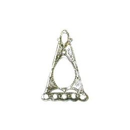 Trinity Brass senorita filigree linkki 10,5 x 16 mm, antiikkihopeoitu (takapuoli)
