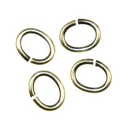 Trinity Brass ovaali välirengas 7 x 6 mm, antiikkihopeoitu