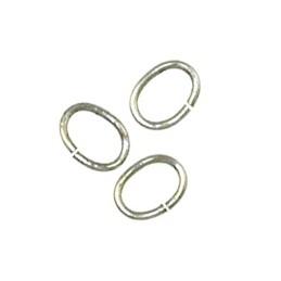 Trinity Brass ovaali välirengas 7 x 5 mm, antiikkihopeoitu