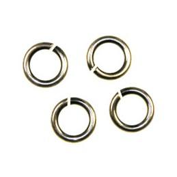 Trinity Brass pyöreä välirengas 6 mm, antiikkihopeoitu