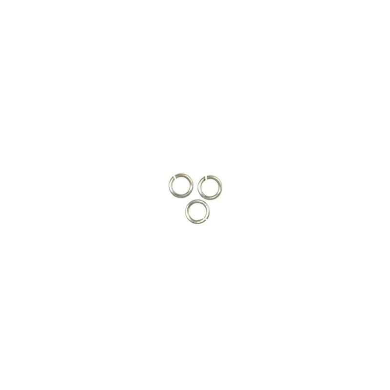 Trinity Brass pyöreä välirengas 5 mm, antiikkihopeoitu