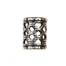 Trinity Brass filigree tuubi 6 x 8 mm, antiikkihopeoitu