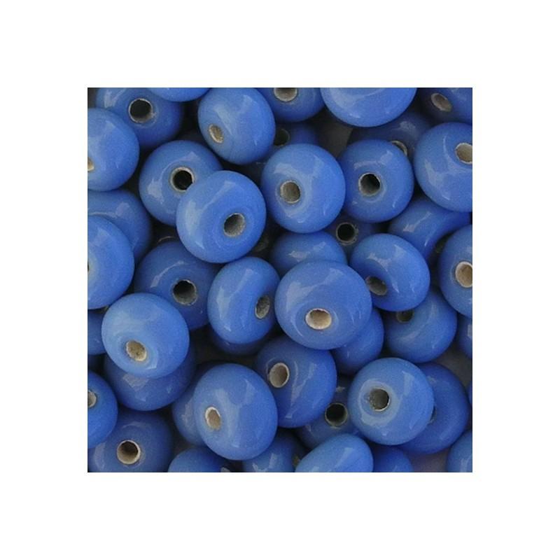 Lamppuhelmi rondelli 11 x 7 mm, mustikansininen
