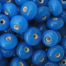 Lamppuhelmi rondelli 11 x 7 mm, sininen