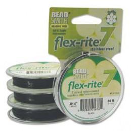 Flex-Rite 7-säikeinen koruvaijeri 0,35 mm, musta