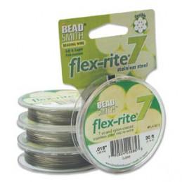 Flex-Rite 7-säikeinen koruvaijeri 0,45 mm, kirkas teräs 9,1 m