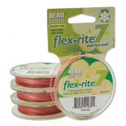 Flex-Rite 7-säikeinen koruvaijeri 0,45 mm, oranssi