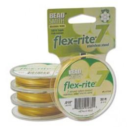 Flex-Rite 7-säikeinen koruvaijeri 0,45 mm, satiinikulta