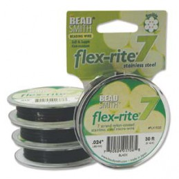 Flex-Rite 7-säikeinen koruvaijeri 0,60 mm, musta