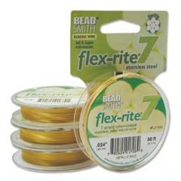 Flex-Rite 7-säikeinen koruvaijeri 0,60 mm, satiinikulta