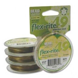 Flex-Rite 49-säikeinen koruvaijeri 0,35 mm, pronssi