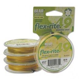 Flex-Rite 49-säikeinen koruvaijeri 0,35 mm, satiinikulta