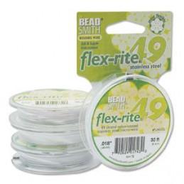 Flex-Rite 49-säikeinen koruvaijeri 0,45 mm, valkoinen