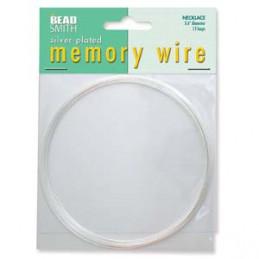 Memory wire, kaulakorukoko 91 mm, hopeoitu (12 kieppiä)
