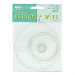 Memory wire lajitelma, hopeoitu